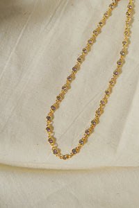 CHIARA Long Crystal Chain Necklace 22""