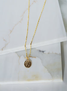 ROMA Gold Plated Coin Necklace