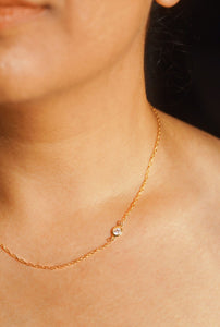 PALISADES Single Crystal Gold Filled Rope Chain Necklace