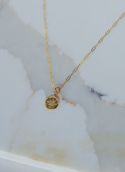 JUNO North Star Gold Filled Necklace