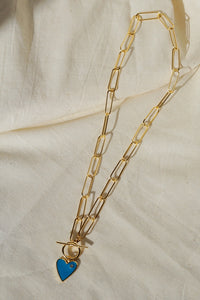 DESI Heart Large Link Necklace Gold