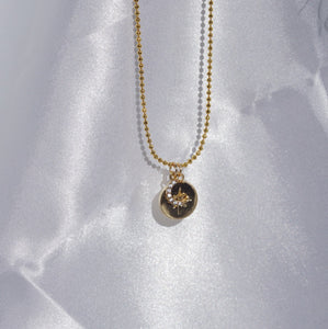 COSMO Half Moon & Star Double Pendant Necklace