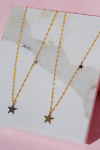 SOLARIS Double Star Necklace Gold