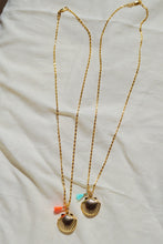 CETO Seashell Locket Coral Tassel Gold Plated Necklace