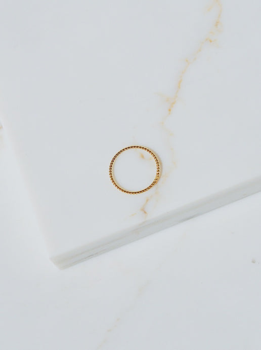 RASSI Rope Gold Filled Stacking Ring