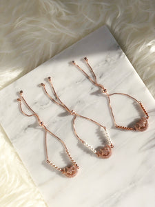 CHANDA Slider Bracelet Rose Gold