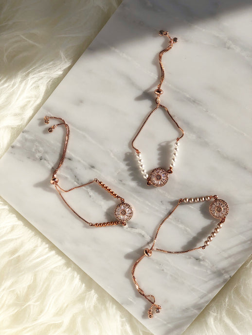 NAZAR Slider Bracelet Rose Gold