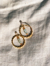 Cairo Hoop Earrings Aquamarine