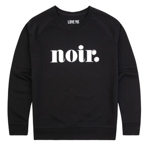 Noir Sweat (Black - Regular Fit)
