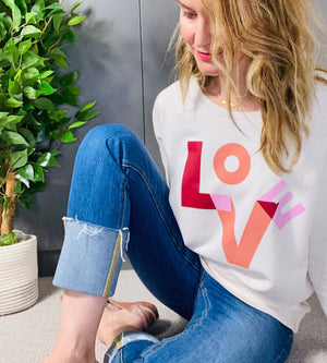 *NEW* LOVE Sweat (Vintage White)