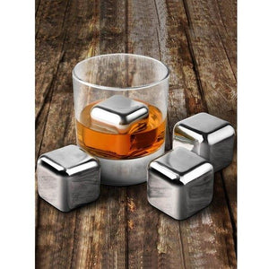 Stainless Steel Ice Cubes (4pcs)