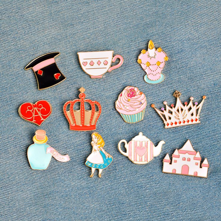 Alice in Wonderland Enamel Pin Set (14 pcs)