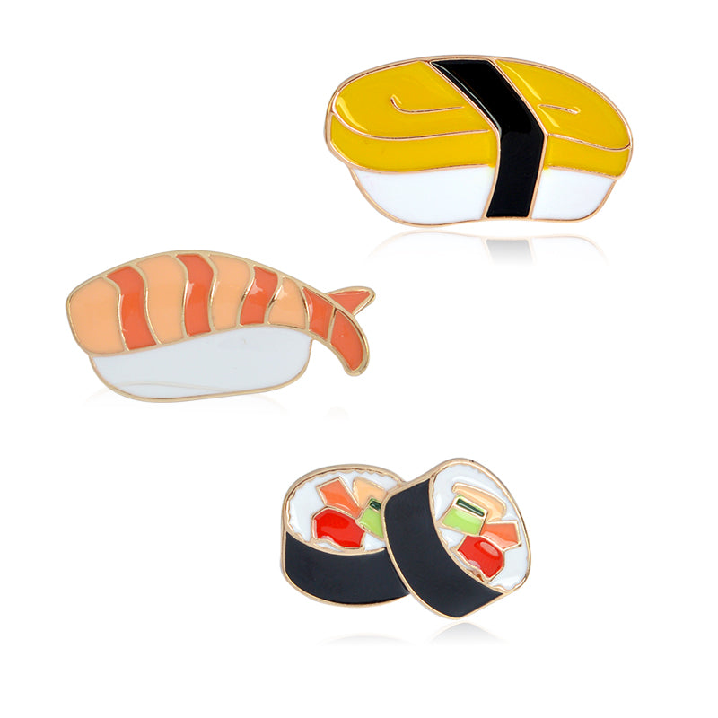 Sushi Enamel Pin Set (3 pcs)