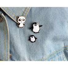 Penguin and Panda Enamel Pins