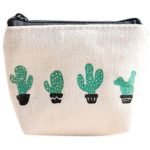 Small Cactus Coin Purse