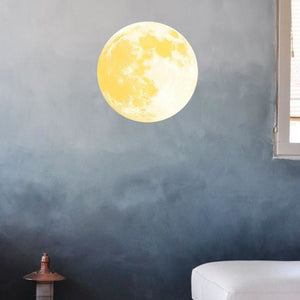 Removable Glow In The Dark Moon Sticker
