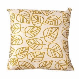 Gold Tropical Pillow Cover