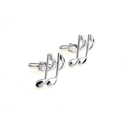Mens Cuff Links Music Notes