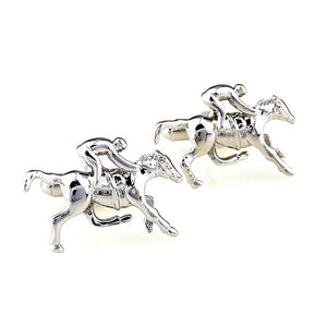 Cuff Links for Men: Horse and Jocky