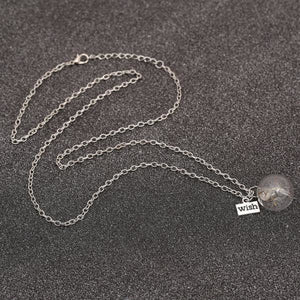Dandelion Seed Wishing Necklace
