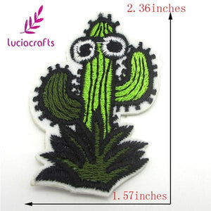 Cactus and Palm Tree Iron On Patches