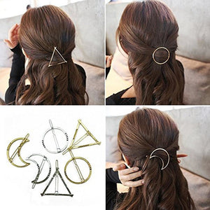 Minimalist Geometric Metal Hairpins (6 pcs)