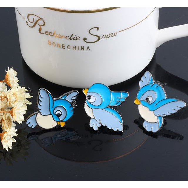 Three Little Birds Enamel Pin Set (3 pcs)