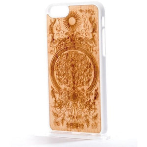 Etched Maple Wood Phone Case