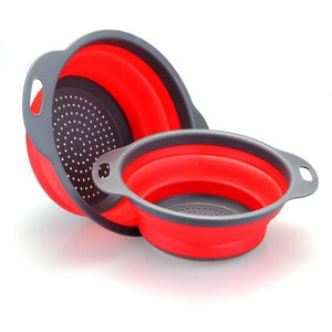 Collapsible Silicone Colander/Strainer Set (2pcs)