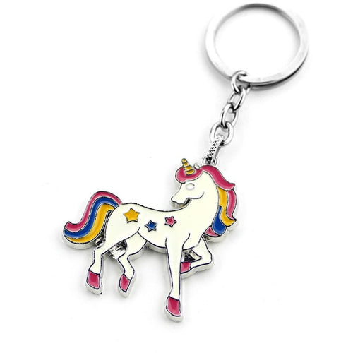 Unicorn Enamel Key Ring