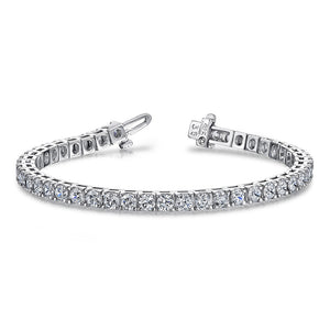 Classic 4 Prong Block Diamond Tennis Bracelet B131