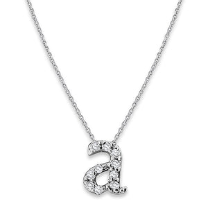 KC Designs Diamond Baby Typewriter Initial Necklace in 14K White Gold - Gems by G Fine Jewelry