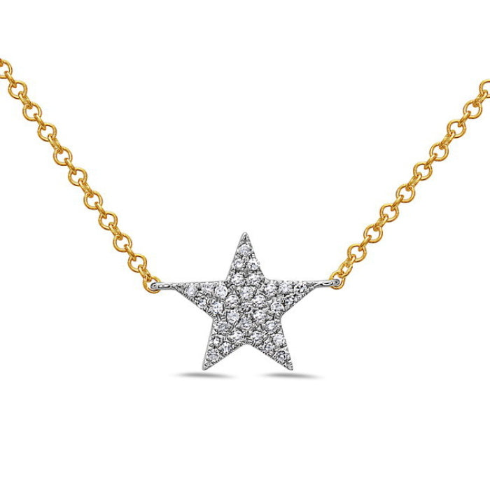 Bassali 14K Gold Pavé Diamond Star Necklace
