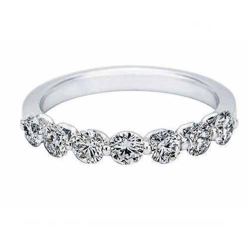 Kimberley Diamond 18K White Gold Round Diamond Wedding Band (0.92 ctw)