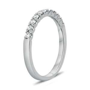 Roman and Jules 14K White Gold Fishtail White Diamond Pave Band (0.35 ctw) - Gems by G Fine Jewelry