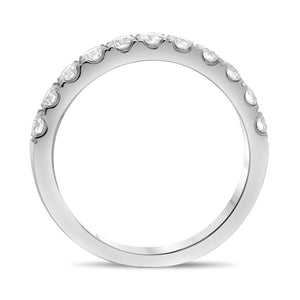 Roman and Jules 14K White Gold Classic White Diamond Band (0.71 ctw) - Gems by G Fine Jewelry