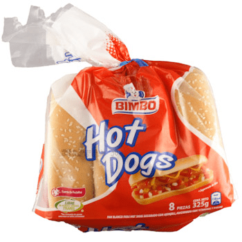 Pan de Hot Dog Bimbo con Ajonjolí