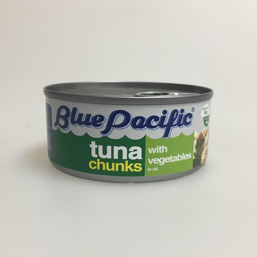 Tuna enlatada con vegetales