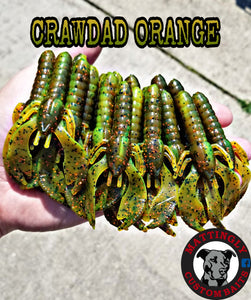 "Crawdad Orange 3.75"" Craws"