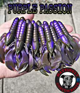 "Purple Passion 3.75"" Craws"