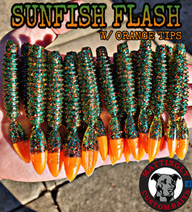 "Sunfish Flash w/ Orange Tips 3.25"" Runts"