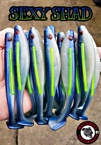 "Sexy Shad 5"" Bloodline Swimmers"