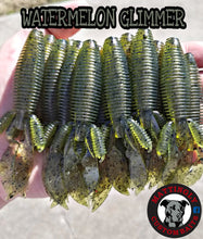 "Watermelon Glimmer 4.25"" Flippin' Mutts"