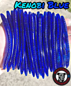 "Kenobi Blue 5"" Shaky Shot Worms"