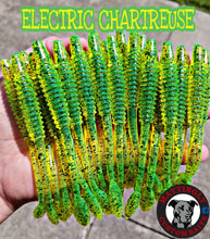 "Electric Chartreuse 5.25"" Alpha Pup Worms"
