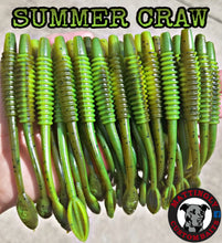 "Summer Craw 5.25"" Alpha Pup Worms"