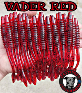"Vader Red 5.25"" Alpha Pup Worms"