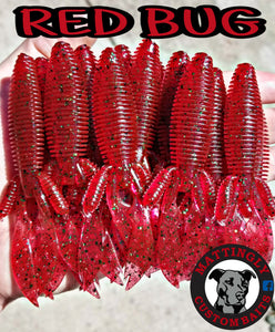 "Red Bug 4.25"" Flippin' Mutts"