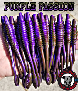 "Purple Passion 5.25"" Alpha Pup Worms"