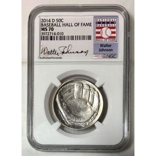 2014 D Baseball Hall Of Fame Half Dollar Ngc Ms70 #401063 Coin